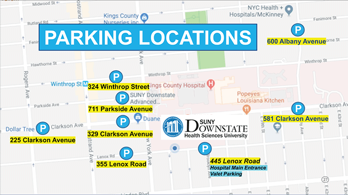 parking locations graphic