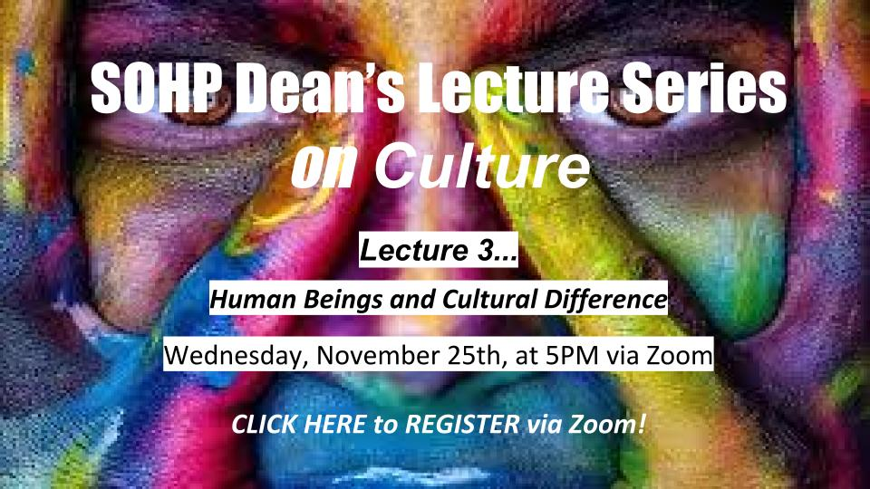 SOHP Deans Lecture Series poster